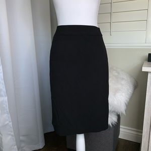 Black Calvin Klein Lined Pencil Skirt